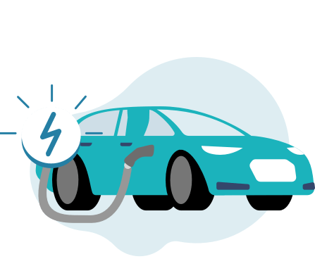 Illustration of an electric car