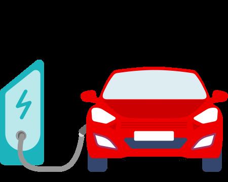 Illustration of an EV charging station